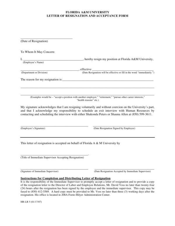 9+ Health Resignation Letter Samples and Templates – PDF ...