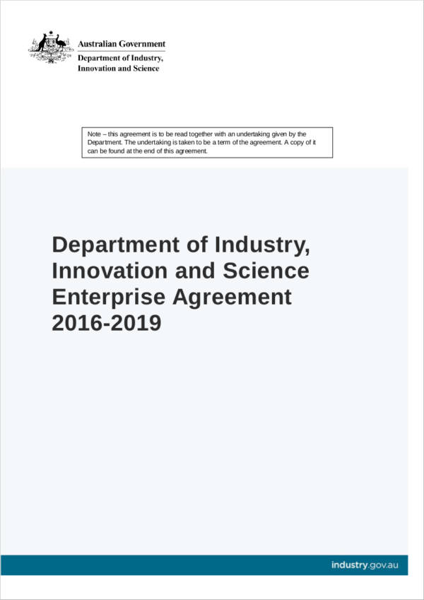 enterprise agreement sample in pdf