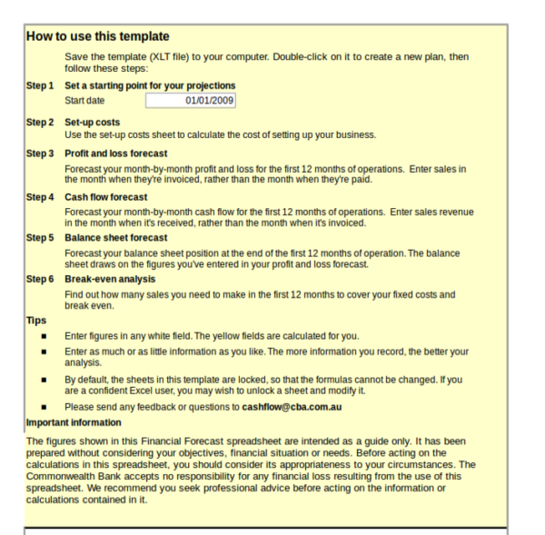 financial planning worksheet template