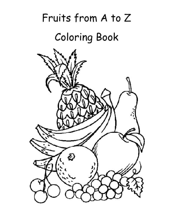 fruits from a to z coloring worksheets 01