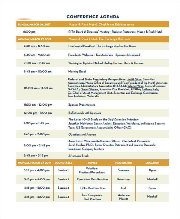 general conference agenda