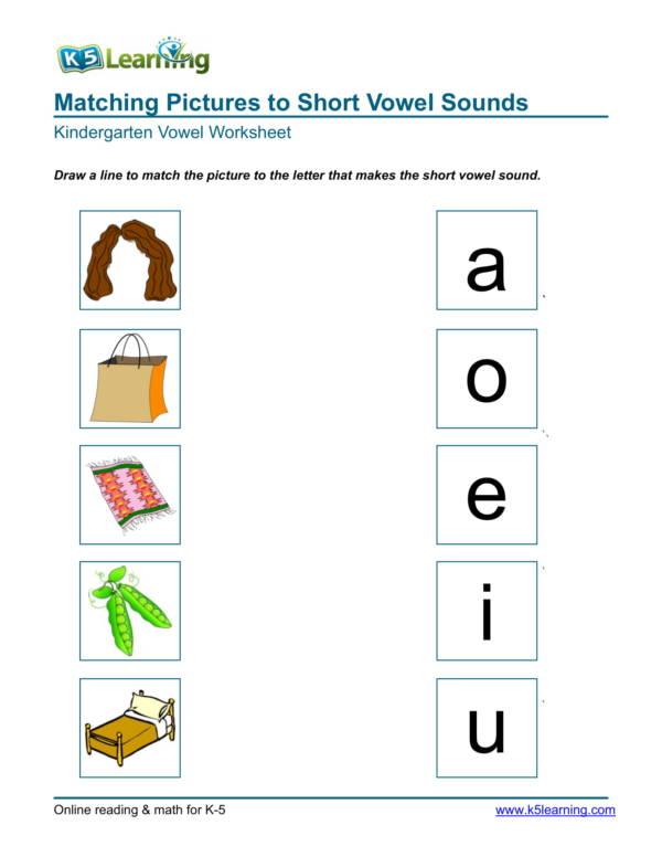kindergarten picture matching worksheet 1