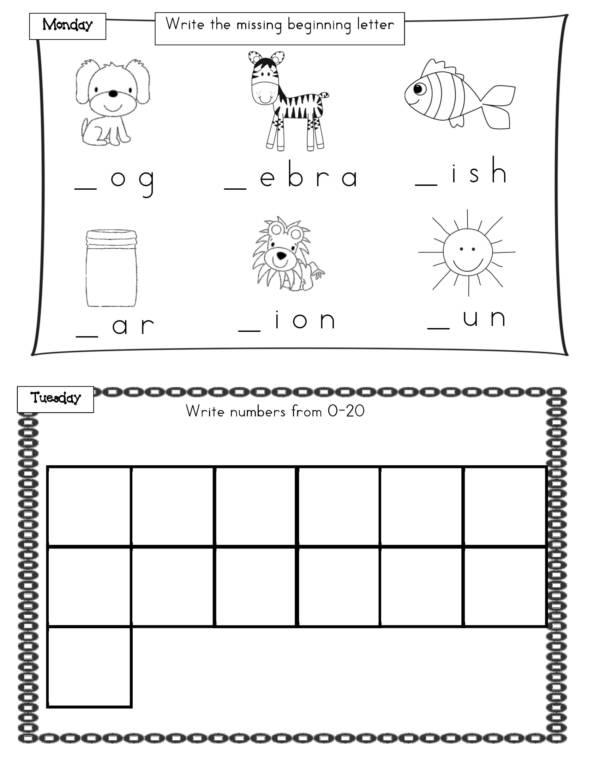 kindergarten summer homework packet 03