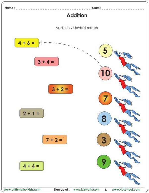 kindergarten worksheet sample
