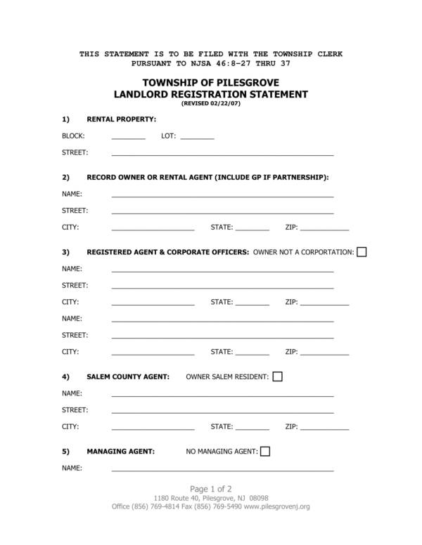 landlord registration statement 1