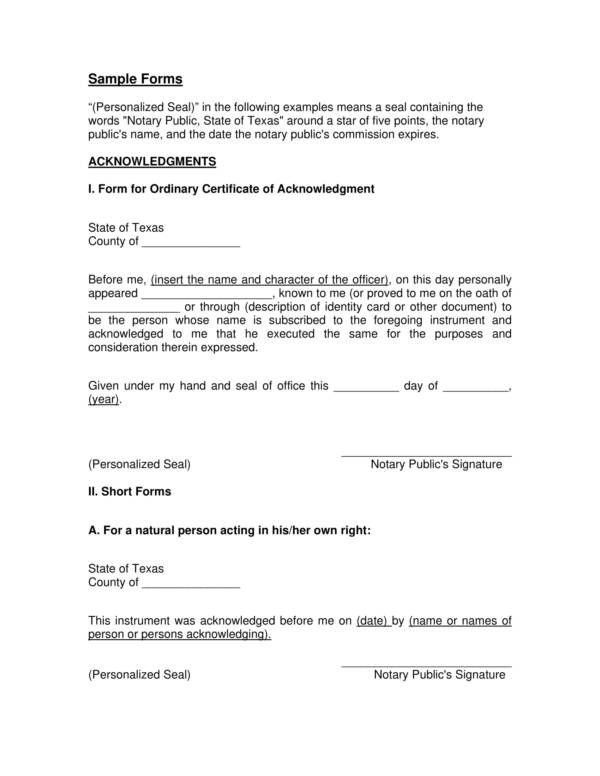notary statement sample forms 1
