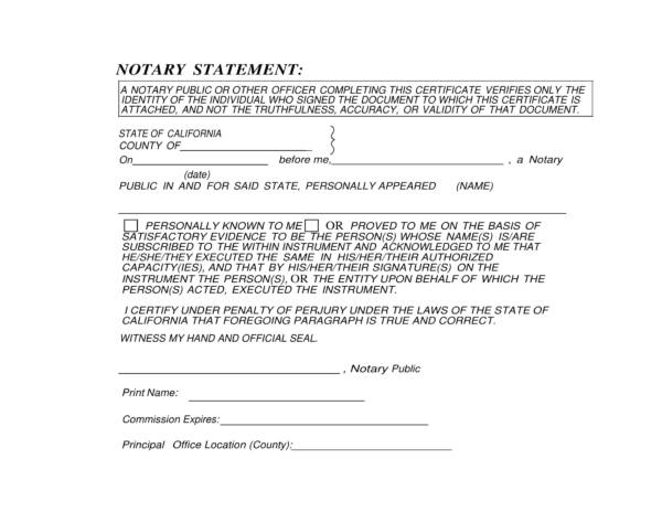 notary statement template 1