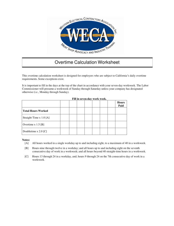 overtime calculation worksheet 1