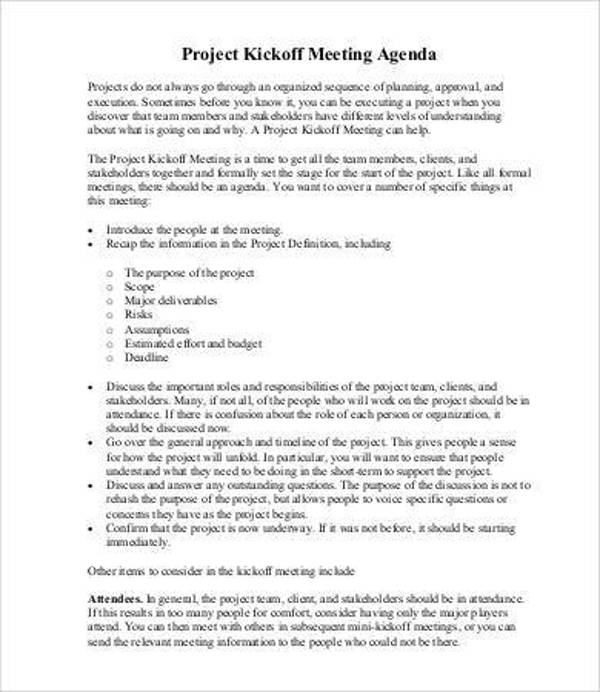 project kickoff meeting agenda template1