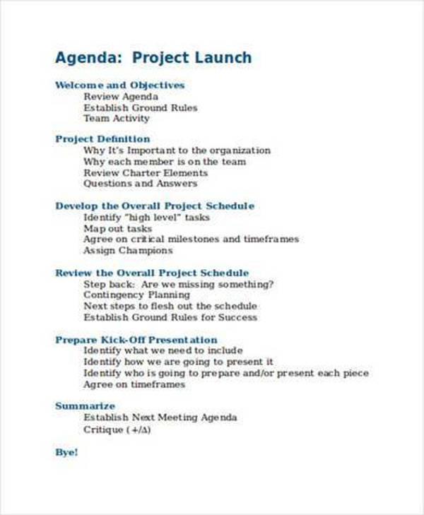 project launch agenda1