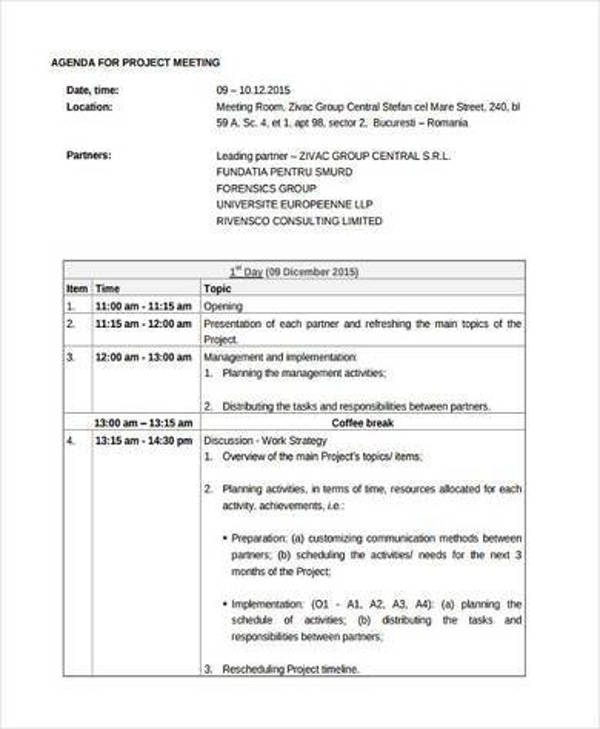 project meeting agenda1