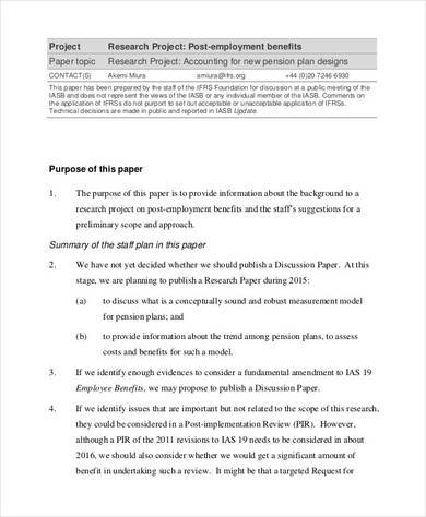 research project agenda