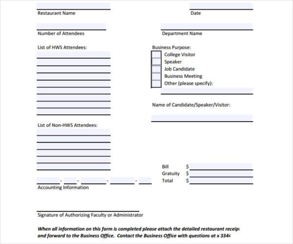 sample restaurant invoice template