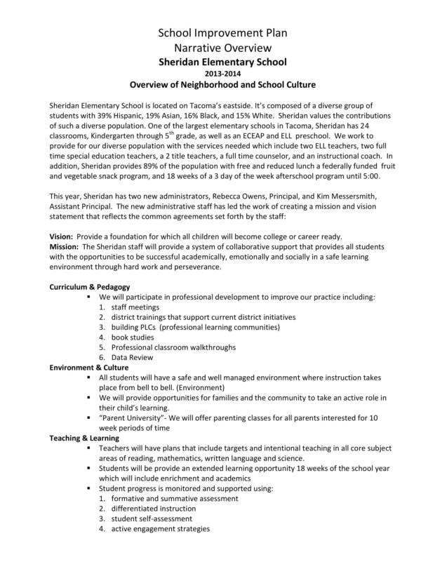 school improvement narrative statement sample 01
