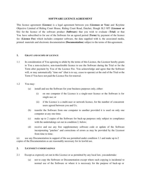 software distribution and license agreement 01