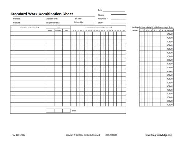 standard work combination worksheet