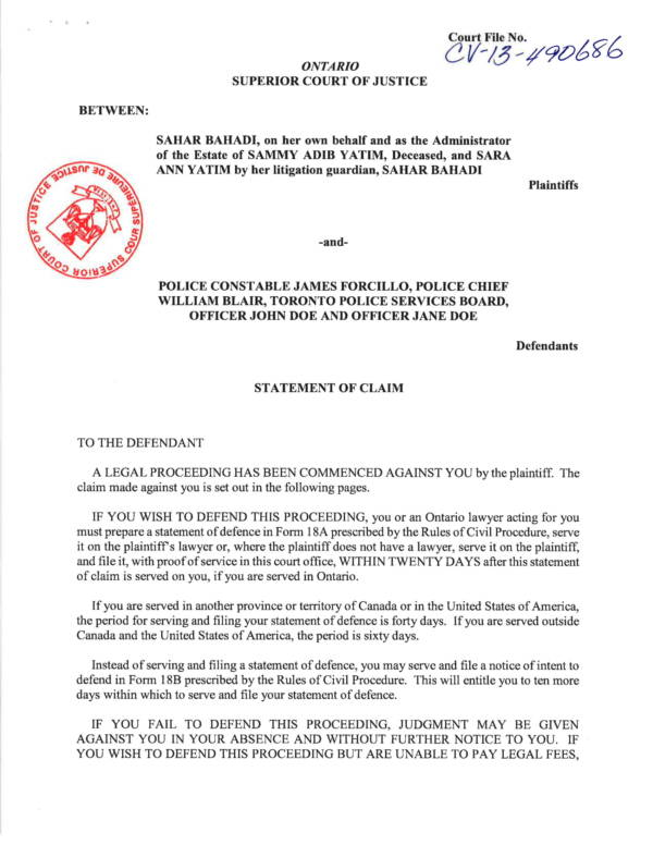 statement of claim for damages 01