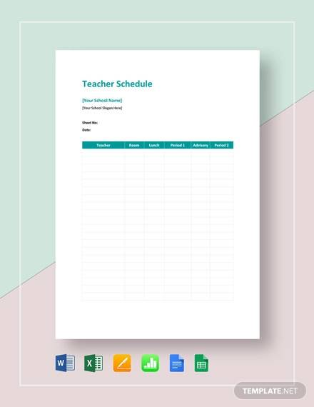 teacher schedule template1