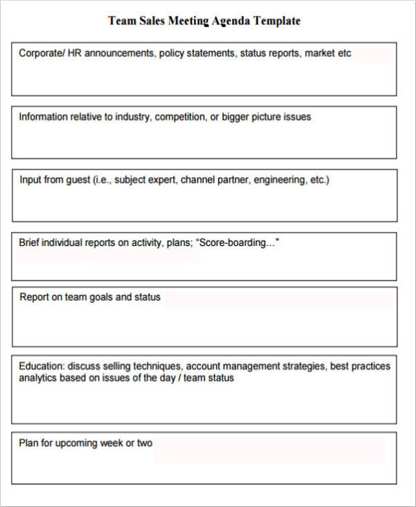 teams sales meeting agenda template to download