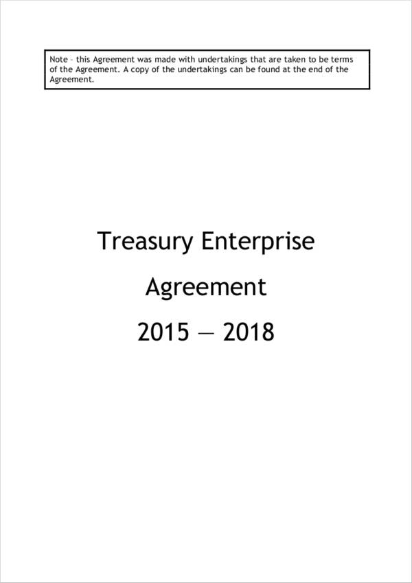 treasury enterprise agreement