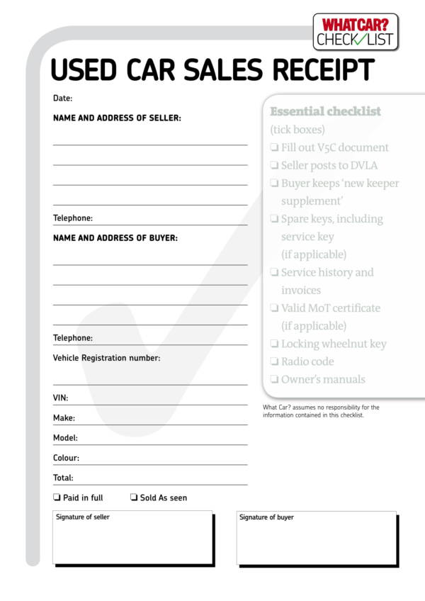 car sales invoice template  9  Car Sale Invoice Templates – PDF | Sample Templates