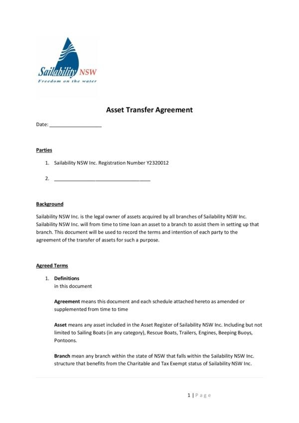 asset transfer agreement template 001