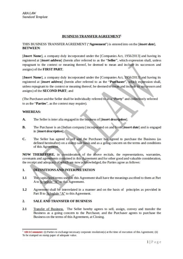 11 agreement of transfer templates pdf word sample templates business transfer agreement template cheaphphosting
