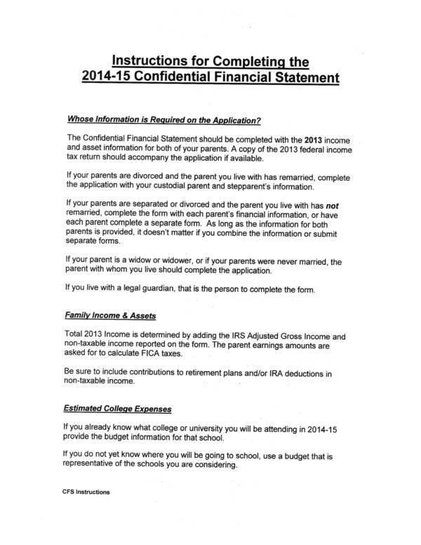 confidential-financial-worksheet-with-instructions