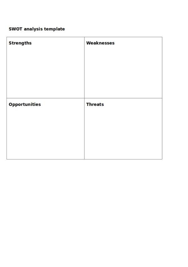 10+ Detailed SWOT Analysis Samples & Templates – PDF, Word | Sample ...