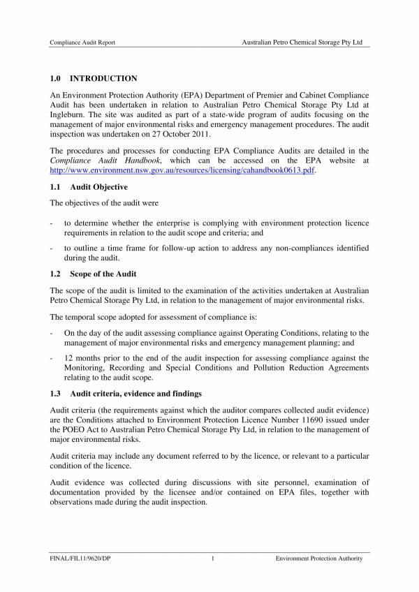 final compliance audit report 05