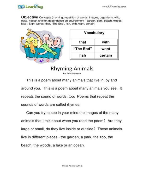 grade 2 reading worksheet