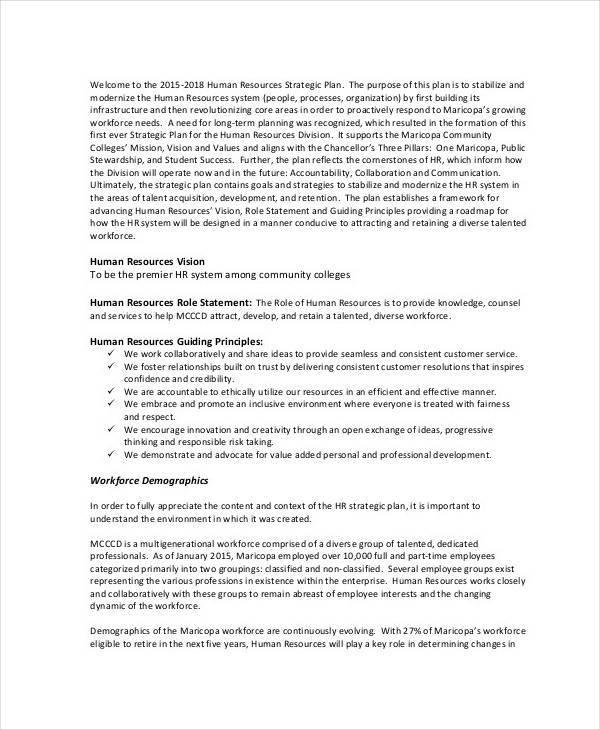 hr operational strategic plan