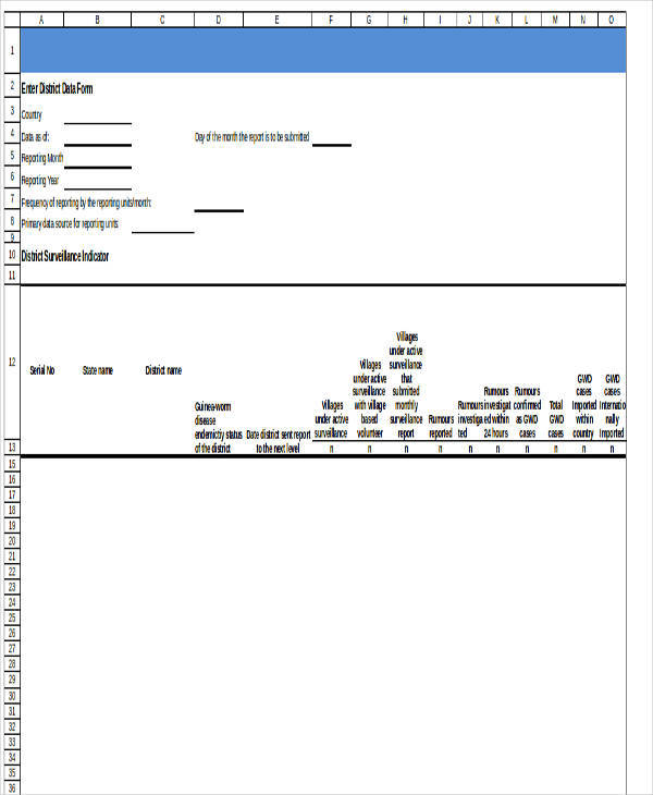 monthly reporting worksheet