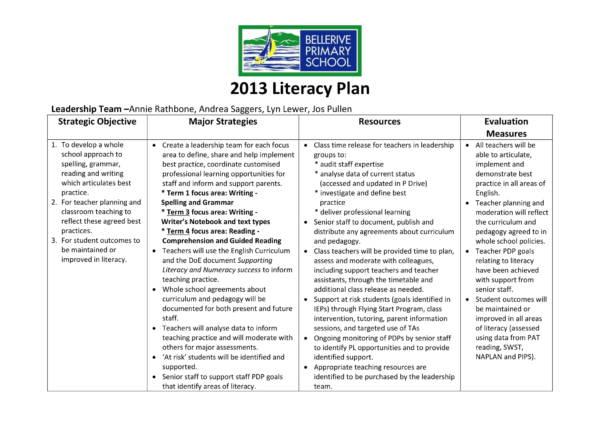 primary school operational plan 02