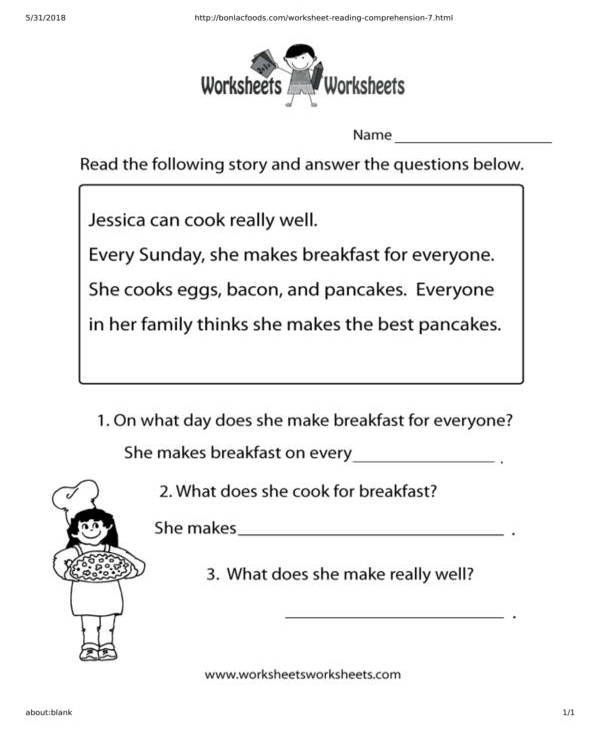 reading-worksheet-with-short-story