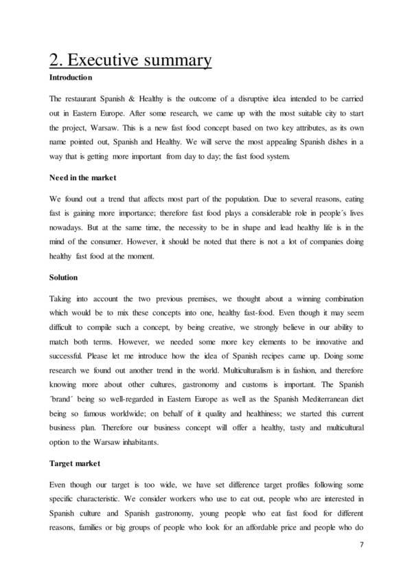 swot analysis sample for a spanish restaurant 07