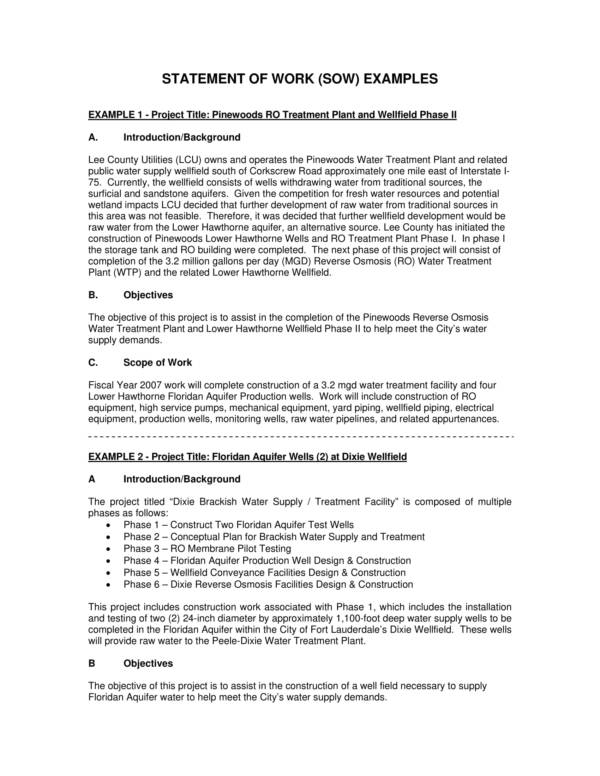 statement of work examples 1