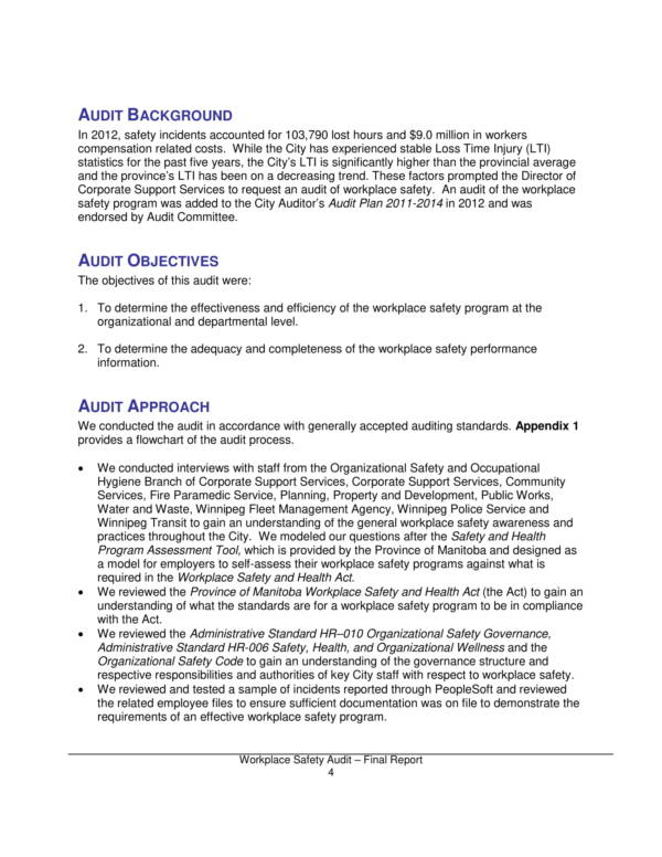 workplace safety audit report 05