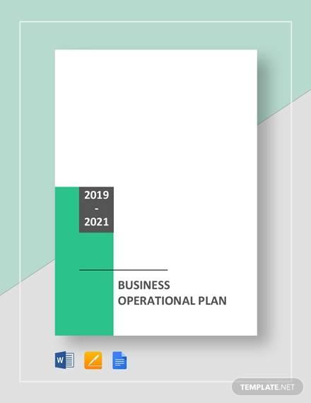 business operational plan template
