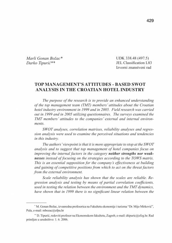 croatian hotel industry swot analysis sample 01