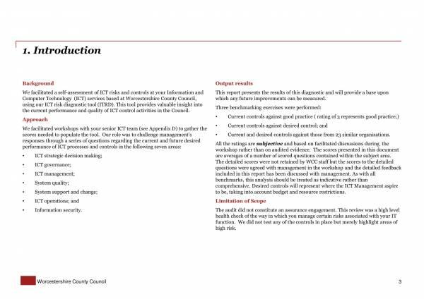 final internal audit report it risk diagnostic 03