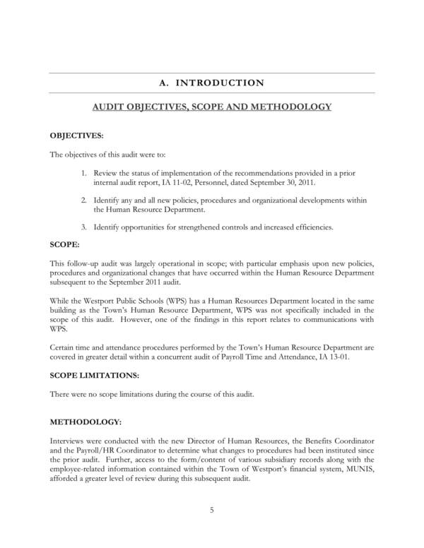 follow up audit report of human resources 05