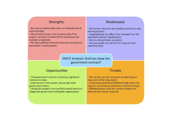 govt contract for hr swot analysis example 1