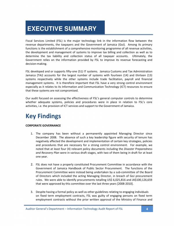 it audit report of fiscal services limited 04