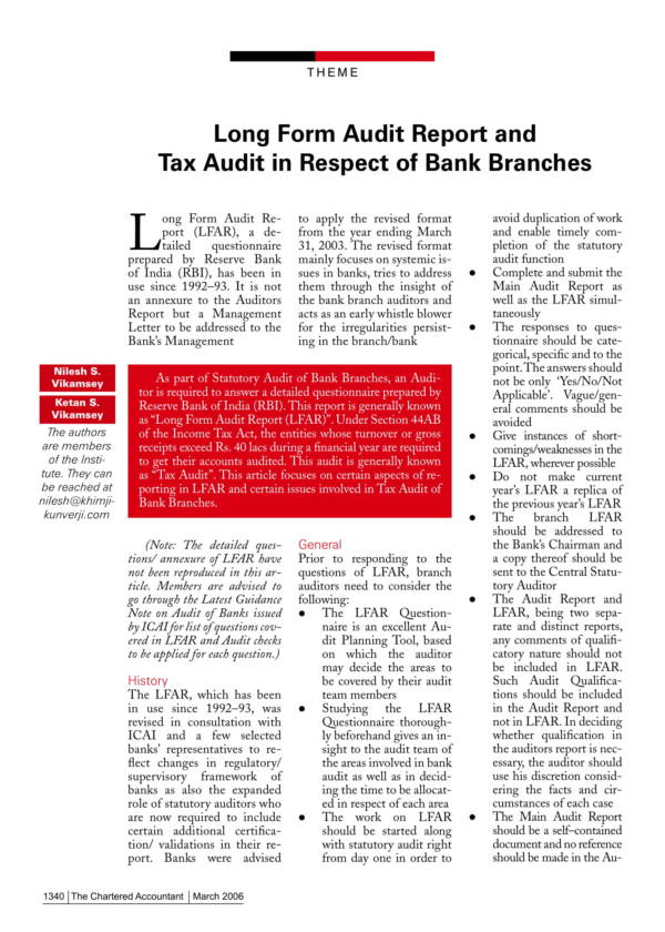 long form audit report and tax audit 01