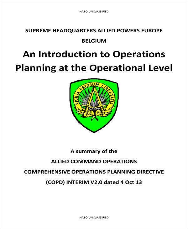 nato operations planning example