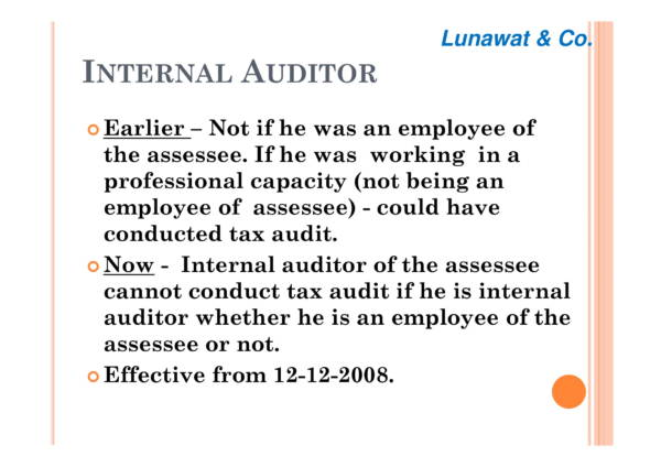 new tax audit reports 03