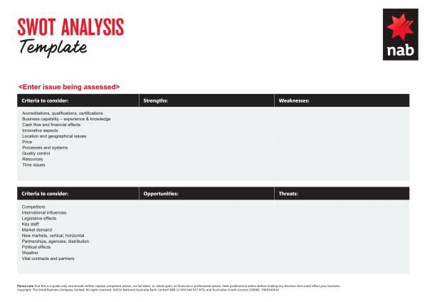 one page marketing swot analysis template 1