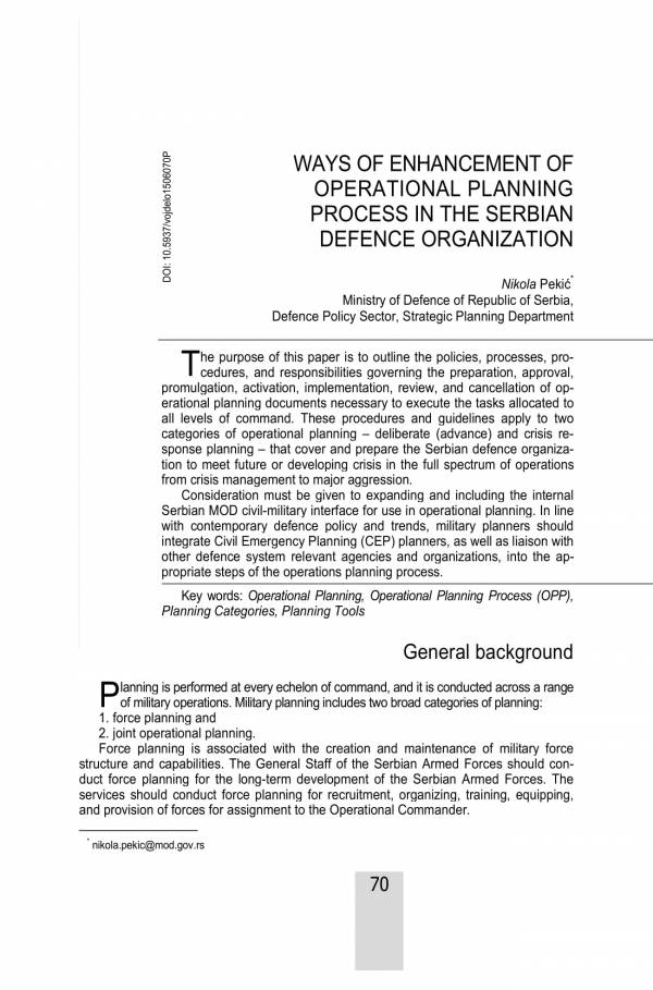 operational planning process enhancement sample 01