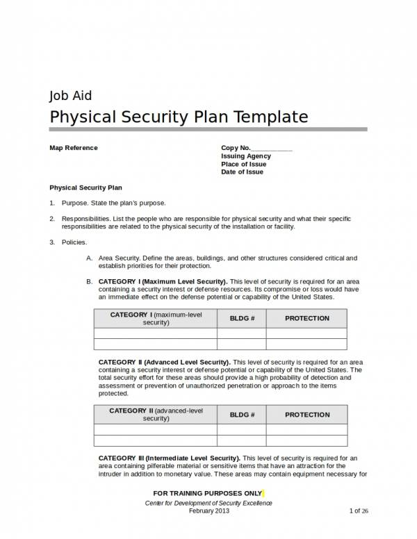 physical security operational plan